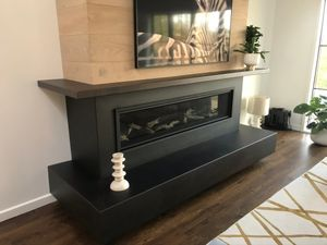 Blackened Steel Fireplace