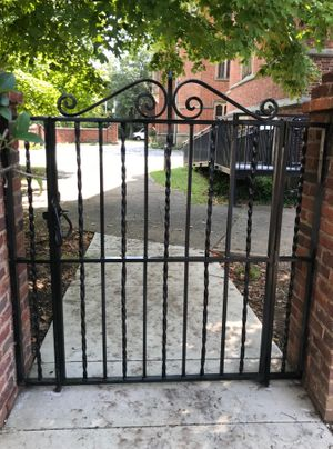 Iron gate at Branch House