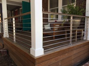 Aluminum porch rail