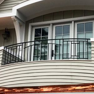 Custom deco porch rail