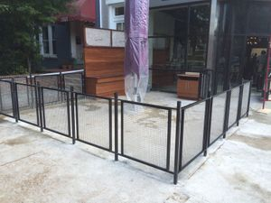 Railing with Stainless mesh infill