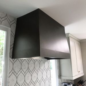 Bronze powder coat hood
