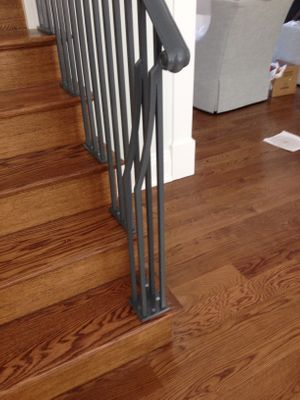 Grey powder coat interior rails