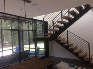 Stair stringers and railing